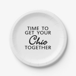 Zeit, Ihren Chic-Spaß zusammenzukommen Pappteller