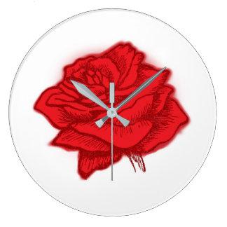 Zeit: In der Rosen-Farbe… Große Wanduhr