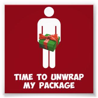 Zeit, mein Weihnachtspaket auszupacken Kunstphoto