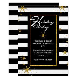 Zeitgenosse Stripes Feiertags-Party Einladung