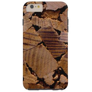 Zeitgenössischer Holzspanchip-entwurf Tough iPhone 6 Plus Hülle