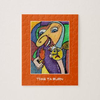 Zeitta-Brand auf Orange - Zeit-Stücke Puzzle