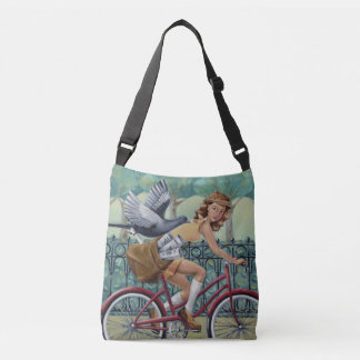 Zeitungs-Mädchen Crossbody Tasche