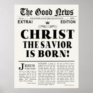 Zeitungs-Schlagzeilen-Weihnachtsdruck Poster