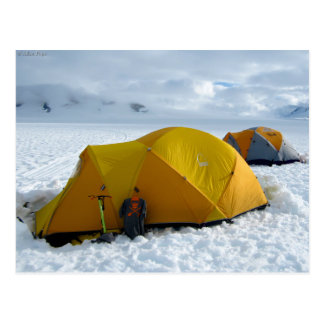 Zelt-Camping auf dem Juneau Icefield, Alaska Postkarte