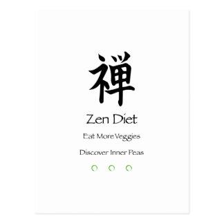 Zen-Diät - essen Sie mehr Veggies - entdecken Sie Postkarte