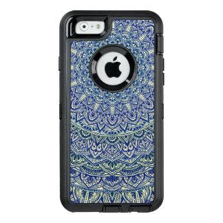 Zen-Marine und gelbe Mandala OtterBox iPhone 6/6s Hülle