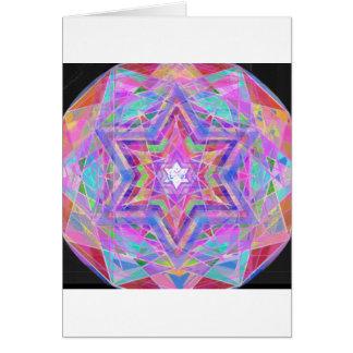 Zerbricht Kristallstern Grußkarte