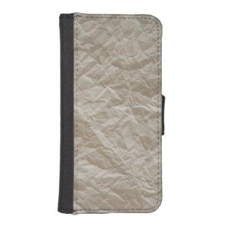 Zerknittertes Papier iPhone 5 Portmonnaies