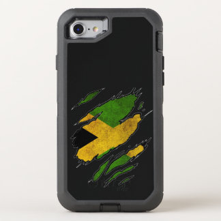 Zerrissene Flagge von Jamaika OtterBox Defender iPhone 8/7 Hülle