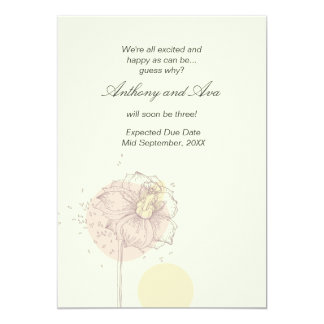Zerstreute Samen-Schwangerschafts-Mitteilung 12,7 X 17,8 Cm Einladungskarte