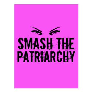 Zertrümmern der Patriarchy Postkarte