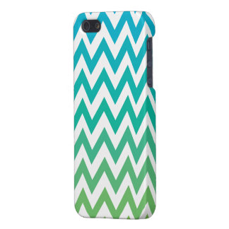 Zickzack blaugrünes Vintages iphone 5/5s Mattende iPhone 5 Etui