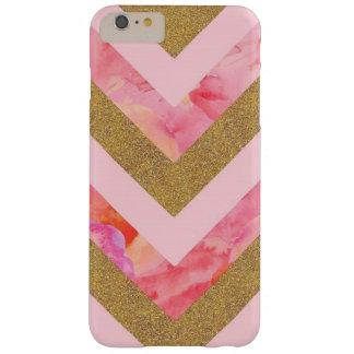 Zickzack Blumen-Glitter-Fall Barely There iPhone 6 Plus Hülle