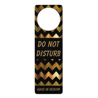 Zickzack Goldmuster   stören nicht Zeichen Türanhänger