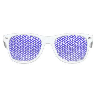 Zickzack scherzt die Party-Schatten, weiß Kinder Sonnenbrillen