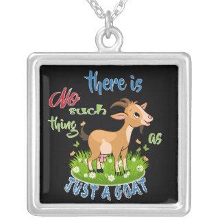 ZIEGE Liebhaber | gerade eine Ziege GetYerGoat™ Versilberte Kette