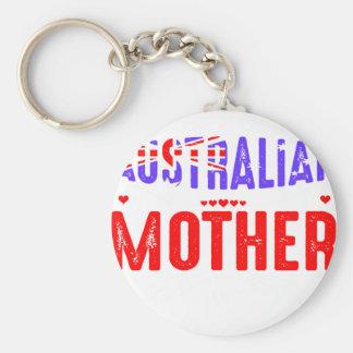 Ziehen Sie sich verrückten australischen Schlüsselanhänger