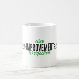 Ziel für Verbesserungs-Tasse Kaffeetasse
