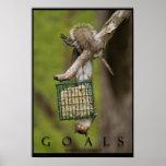 ZIELE inspirierend lustiger Eichhörnchen-Plakat-Dr