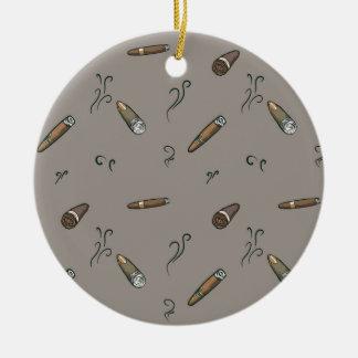 Zigarren-Muster Keramik Ornament