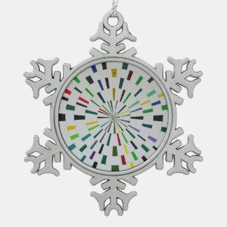 Zinn-Schneeflocke-Verzierung - modernes abstraktes Schneeflocken Zinn-Ornament