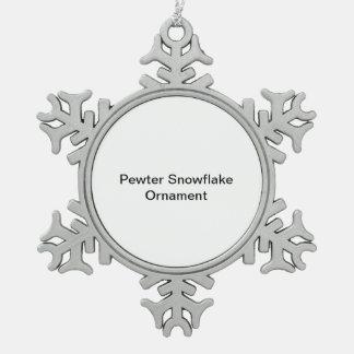 Zinn-Schneeflocke-Verzierung Schneeflocken Zinn-Ornament