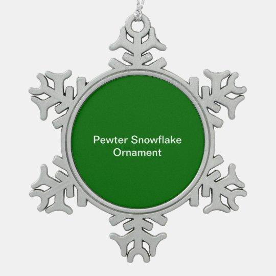 Zinn-Schneeflocken Ornament