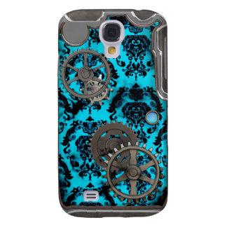 Zinn und Türkis Steampunk iPhone Fall Galaxy S4 Hülle