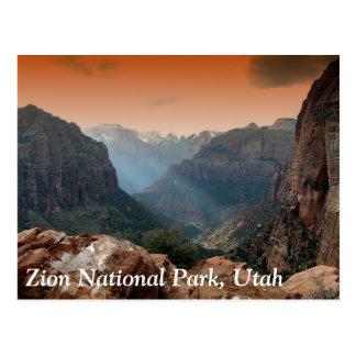 Zion Nationalpark, Utah Postkarte