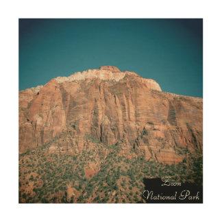 Zion Nationalpark-Vintage Fotografie Holzleinwände