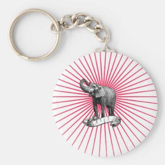 Zirkus-Elefant keychain Schlüsselanhänger