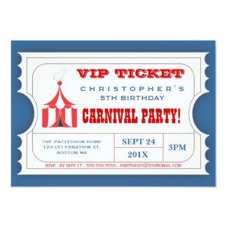 Zirkus-Karnevals-Party-Karten-Aufnahme-Einladung 12,7 X 17,8 Cm Einladungskarte