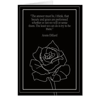 Zitat-Karte Annie Dillard Karte