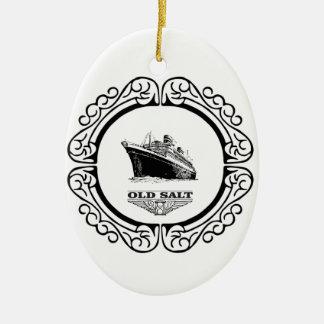 Zitate des alten Salzes Ovales Keramik Ornament