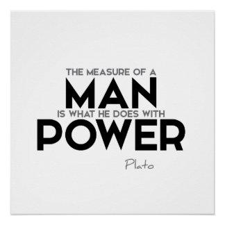 ZITATE: Plato - Arbeitskräfte Poster