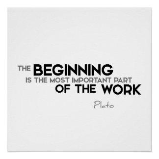 ZITATE: Plato: Der Anfang Poster