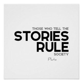ZITATE: Plato: Geschichten Poster