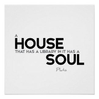 ZITATE: Plato: Haus-Soul Poster