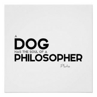 ZITATE: Plato: Hundephilosoph Poster