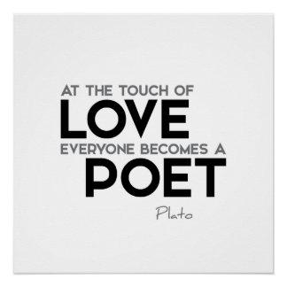 ZITATE: Plato - Liebe, Dichter Poster