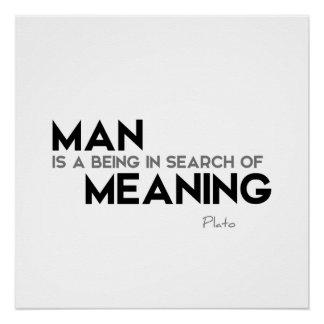 ZITATE: Plato: Mannbedeutung Poster