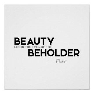 ZITATE: Plato: Schönheitsbeschauer Poster