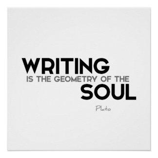 ZITATE: Plato: Schreibens-Soul Poster