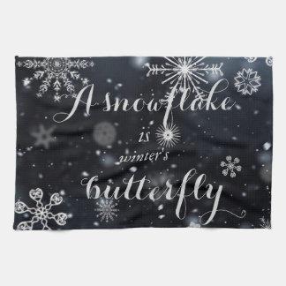 """Zitieren Sie """"eine Schneeflocke ist der Küchenhandtuch"""
