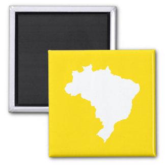 Zitrone festliches Brasilien bei Emporio Moffa Quadratischer Magnet