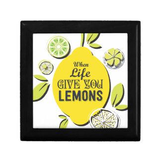 Zitrone Geschenkbox