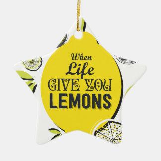 Zitrone Keramik Ornament