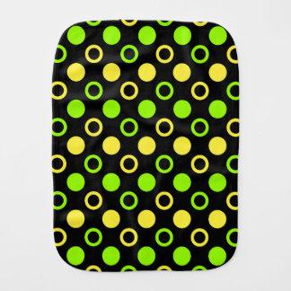 Zitrone und Limone Ringe und Polka-Punkte durch Spucktuch