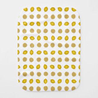 Zitronen-Druck Baby Spucktuch